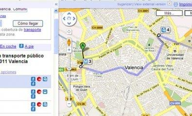 Google Transit ya se puede usar en España