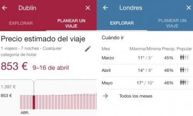 Planifica tu viaje con Google Destinos