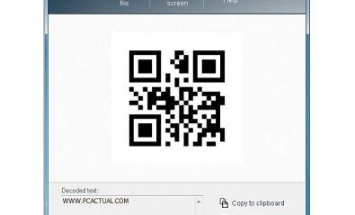 Lee códigos QR desde un ordenador gobernado por Windows