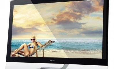 Monitor táctil Acer T232HL, moderno y con peana compacta