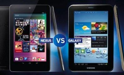 Frente a frente: Google Nexus 7 y Samsung Galaxy Tab 2 7.0