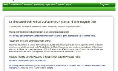 Nokia cierra su tienda on-line en España y otros cinco países