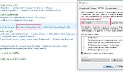 Desactiva todas las notificaciones de sonido en Windows 10