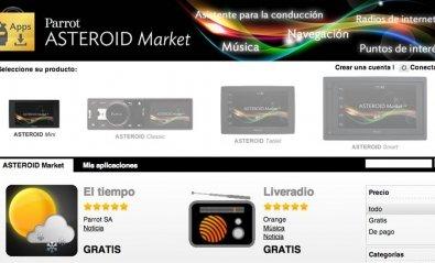 Parrot lanza Asteroid Market con apps Android para el coche