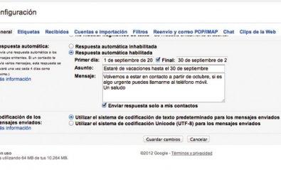 Crea una respuesta automática en Gmail para las vacaciones