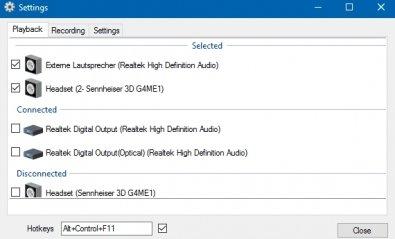 Soundswitch, cambia tu dispositivo de audio con un atajo de teclado