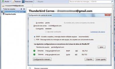 Utiliza Thunderbird para gestionar tu correo de Gmail