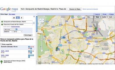 Todo el transporte público madrileño al alcance con Google Transit