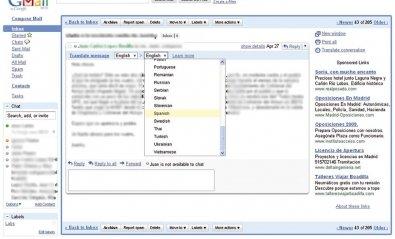 Traduce automáticamente tus mensajes en Gmail