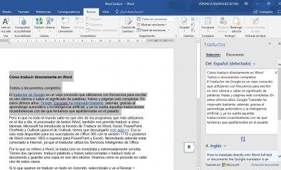 Cómo traducir directamente en Word