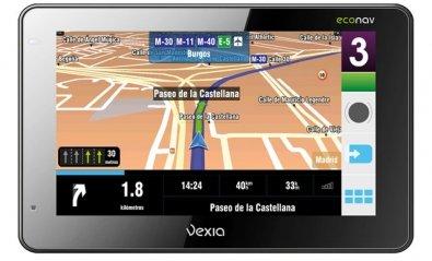 GPS portable Vexia 480 Econav para ahorrar combustible