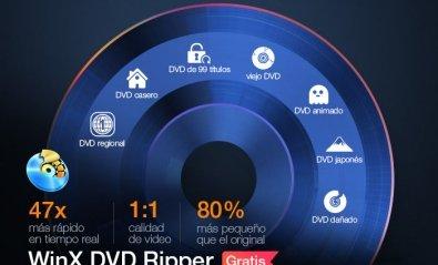 WinX DVD Ripper, la herramienta gratuita más rápida para convertir DVD a MP4