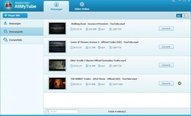 Descarga y conversión de vídeos con AllMyTube