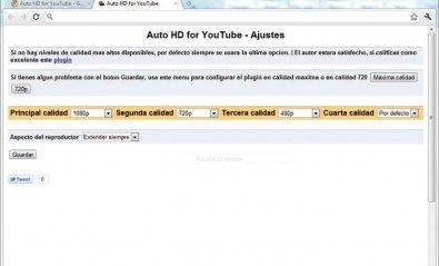 Visualiza los vídeos de YouTube siempre en HD
