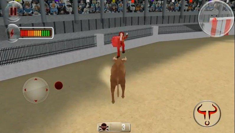 Torero cogido en Angry Bull Simulator