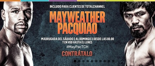 TotalChannel ofrece el combate Mayweather vs Pacquiao