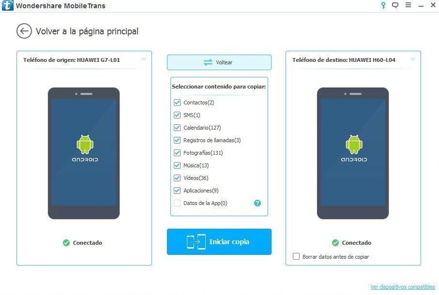 Transferencia a la inversa de datos entre dos Android