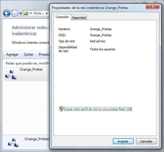 Transferir configuración WiFi