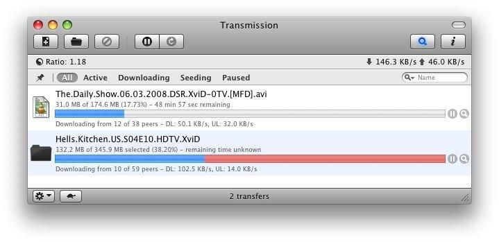 Transmission en OS X