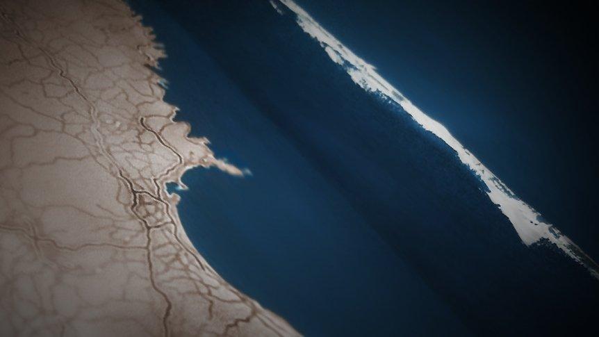 Tsunami llegando a las costas en el terremoto de 2011 en Japón