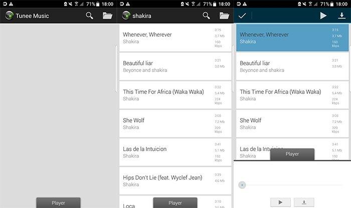 Tunee Music Downloader para Android