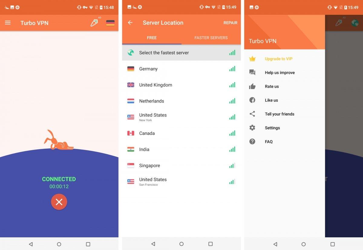 Turbo VPN es gratis en Android