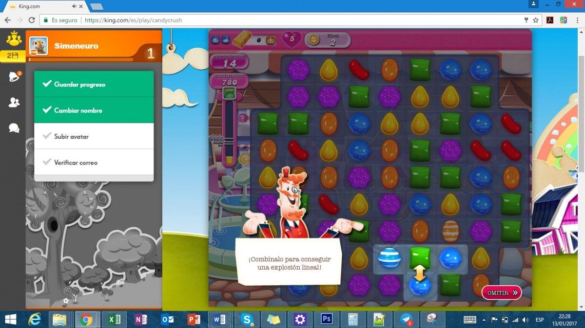 Tutorial de combinación de dulces en Candy Crush saga