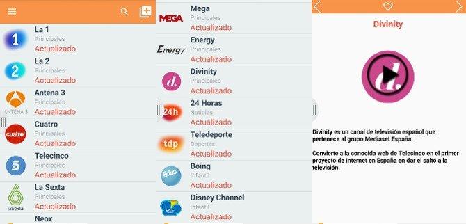 TV Directo, para seguir en móviles y tabletas las cadenas de televisión