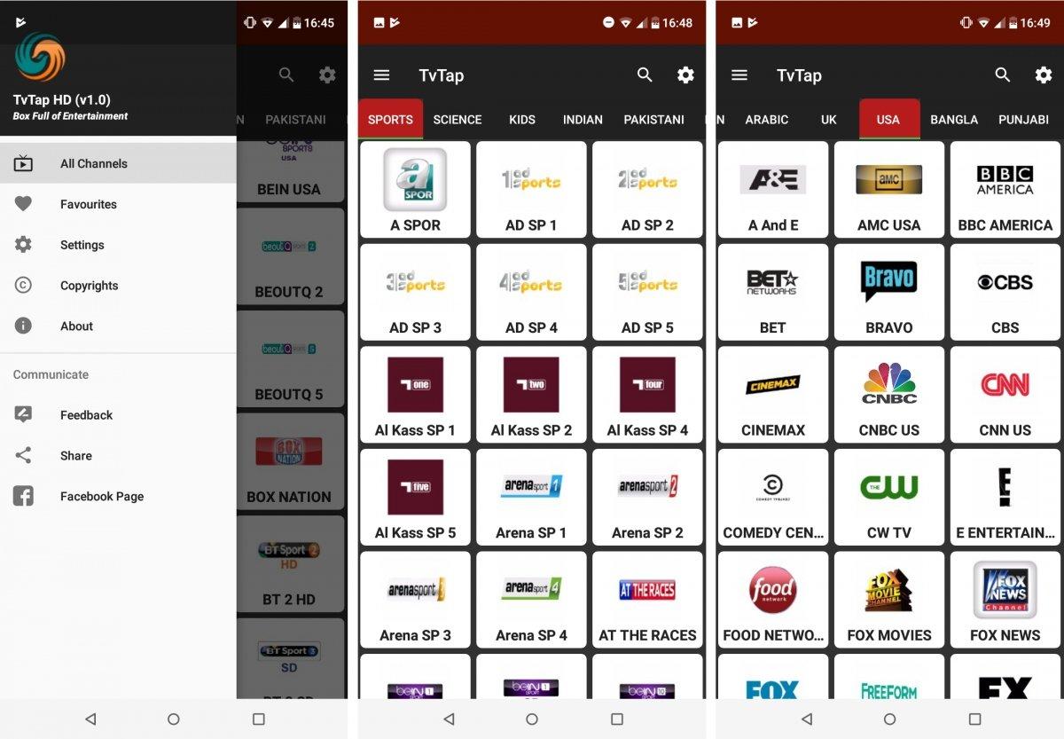 TV Tap para Android tiene cientos de canales