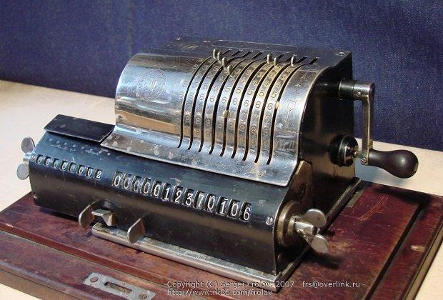 Un aritmómetro Odner del año 1890
