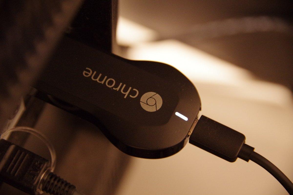 Un Chromecast conectado