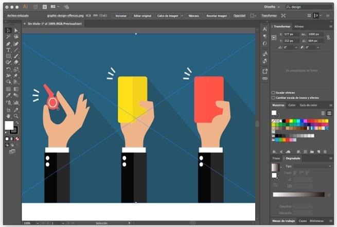 Un diseño con Adobe Illustrator