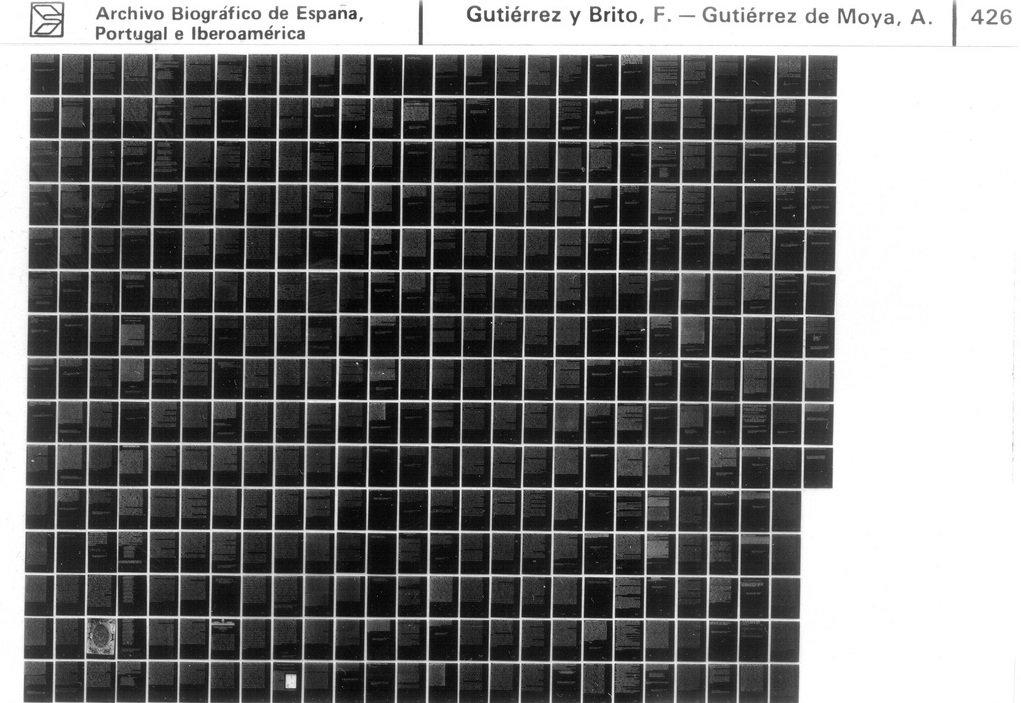 Un ejemplo de microfichas expuestas