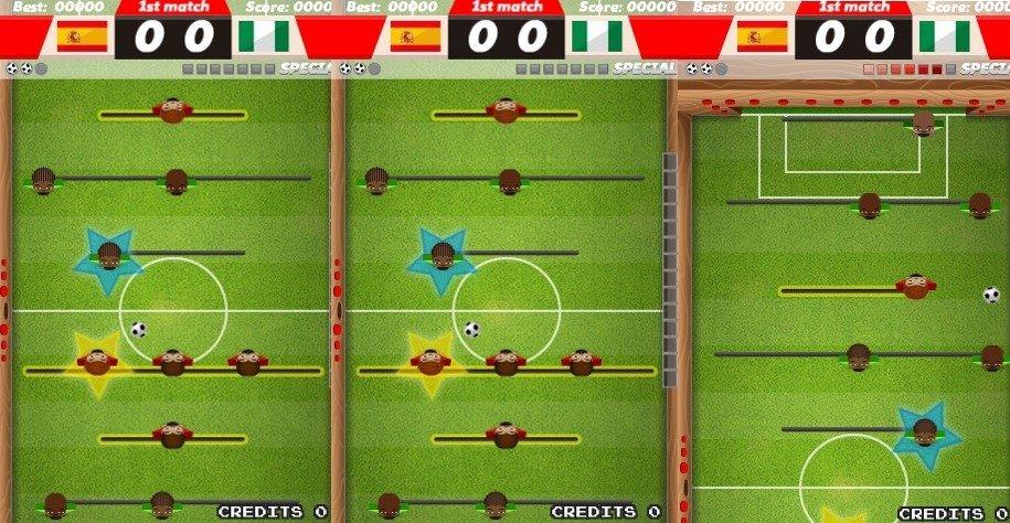 Un futbolín de los de toda la vida en Foosball Super Shooter
