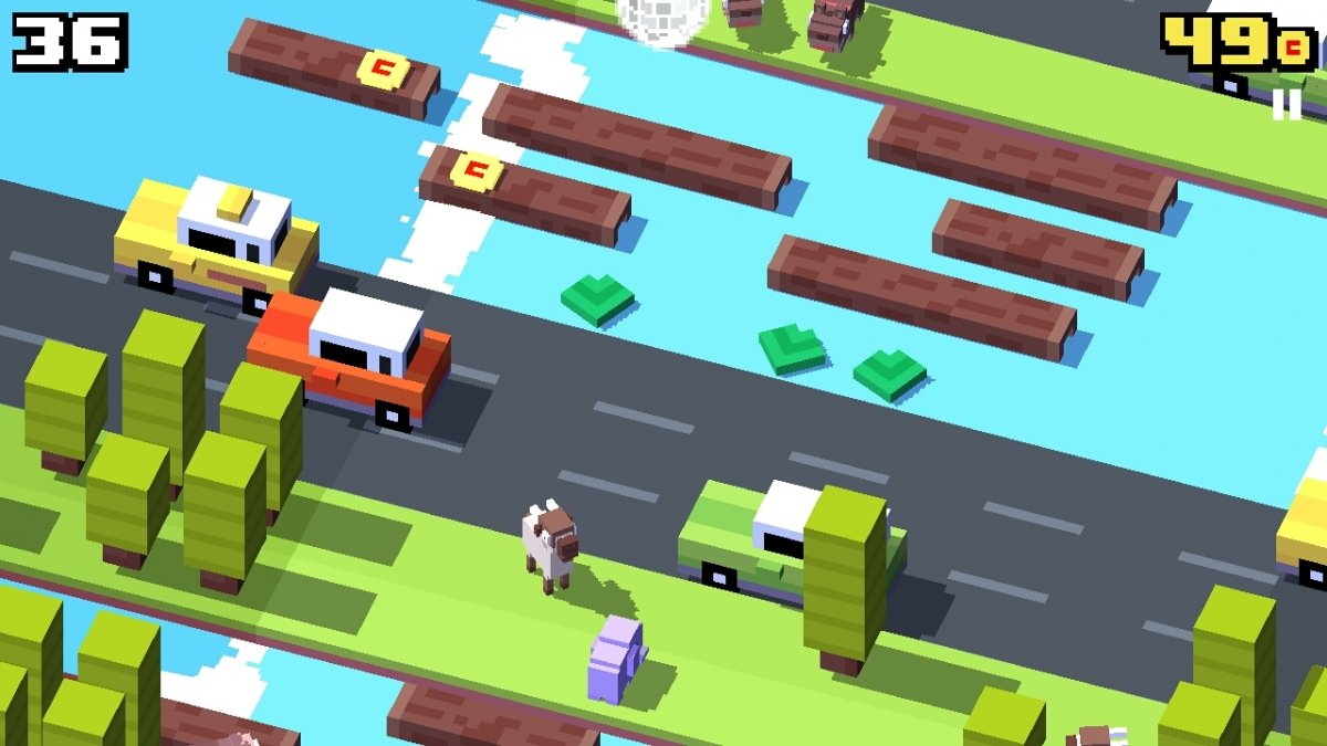 Un río traicionero de Crossy Road