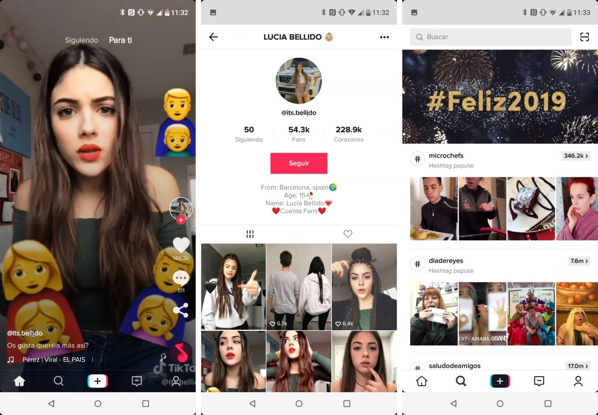 A video, a profile and the trends of TikTok for Android