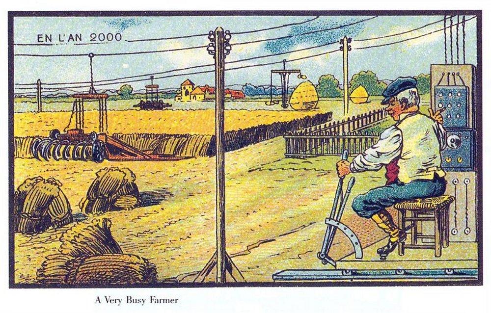 Una cosechadora automatizada
