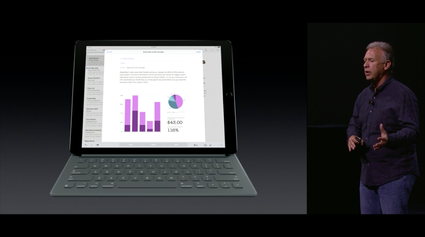 Una imagen de la presentación de Apple del pasado 9 de septiembre de 2015