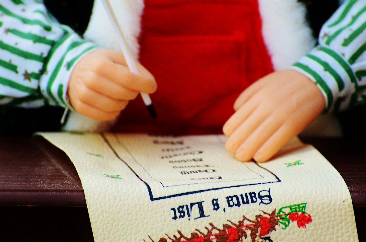 Una lista de Santa Claus