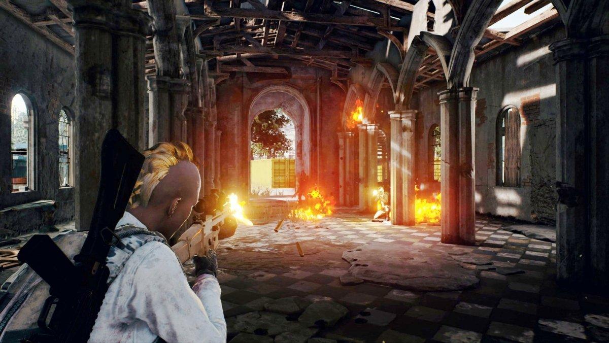 Una partida battle royale en PUBG para PC