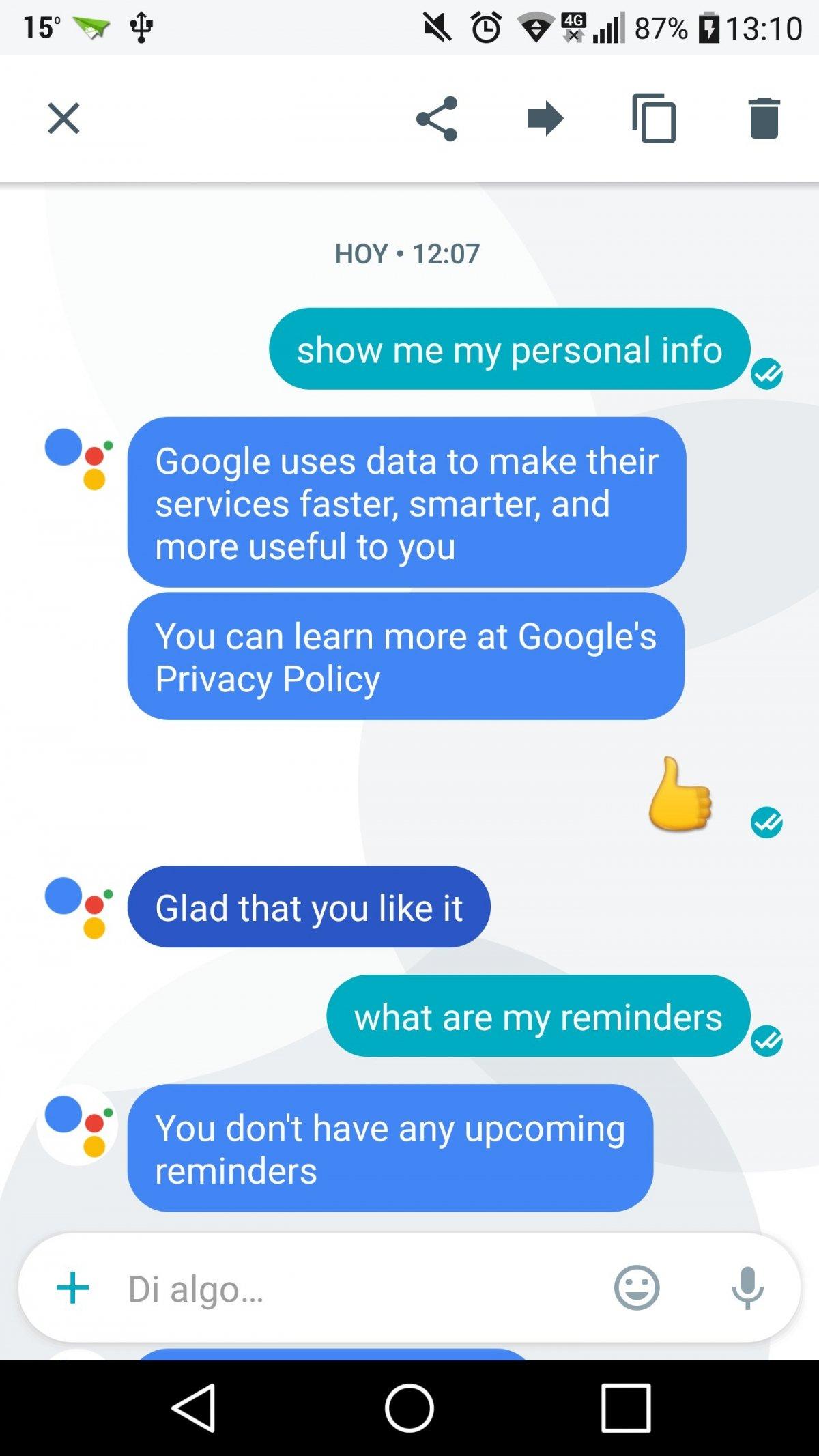 Usar Google Assistant para obtener nuestra información personal
