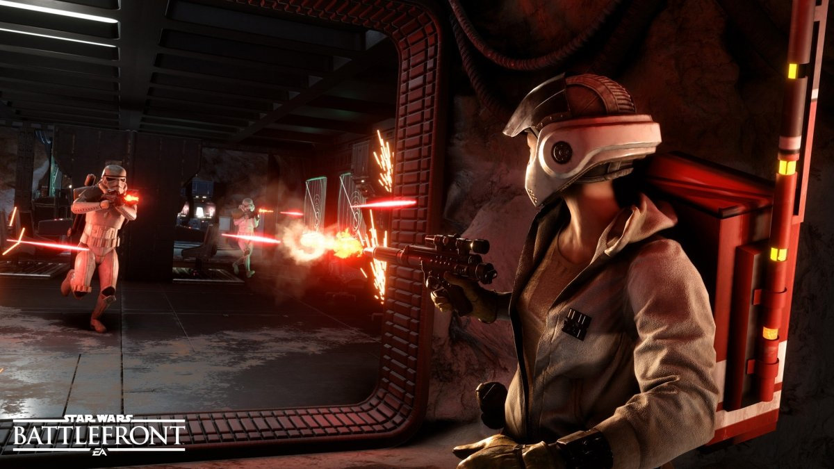 Uso de los blásters en Star Wars: Battlefront