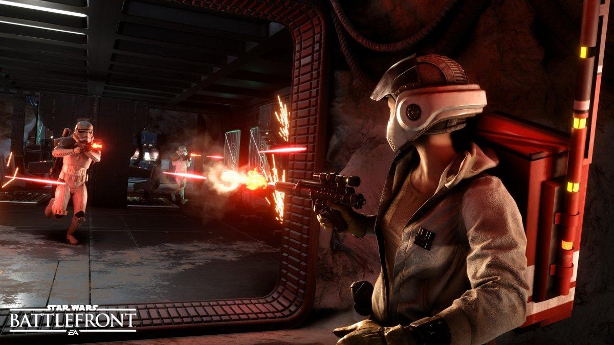 Uso de los blásters en Star Wars: Battlefront