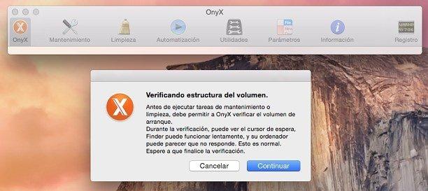 Verificación de volumen y mantenimiento con Onyx