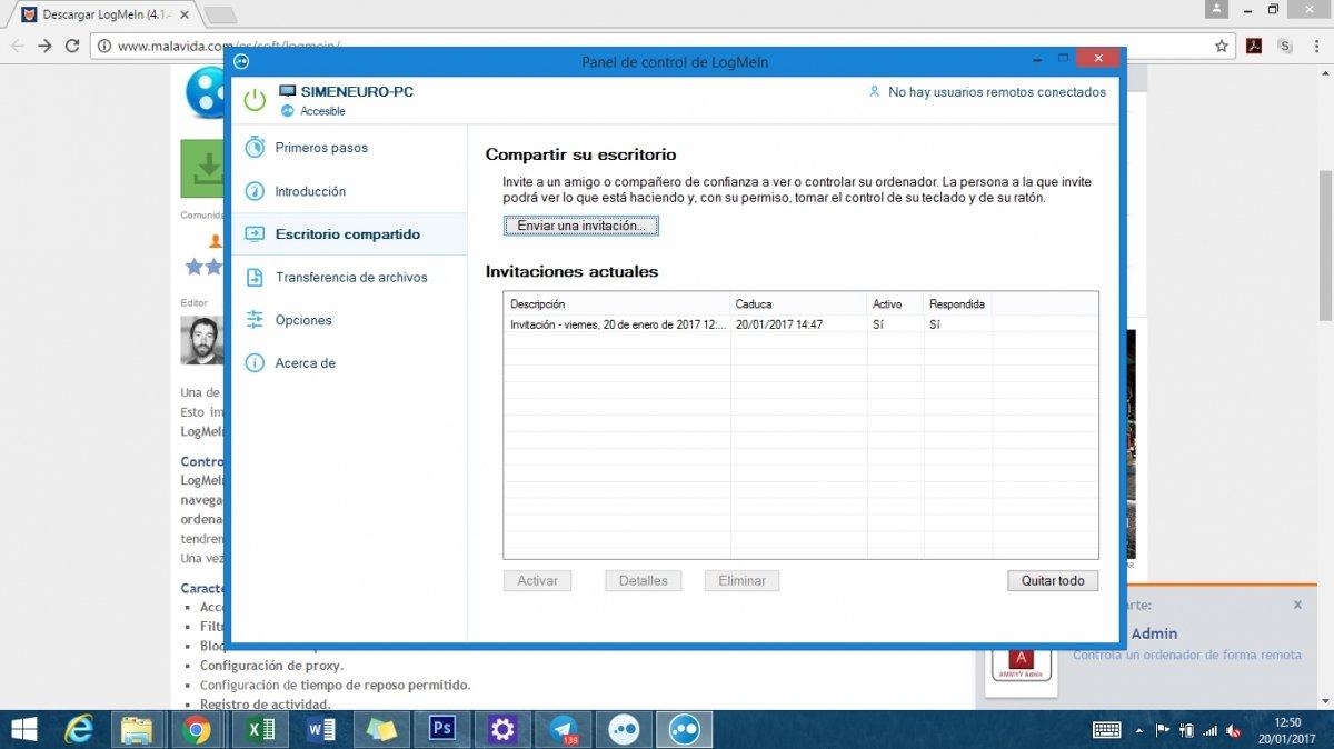 Versión de LogMeIn para Windows