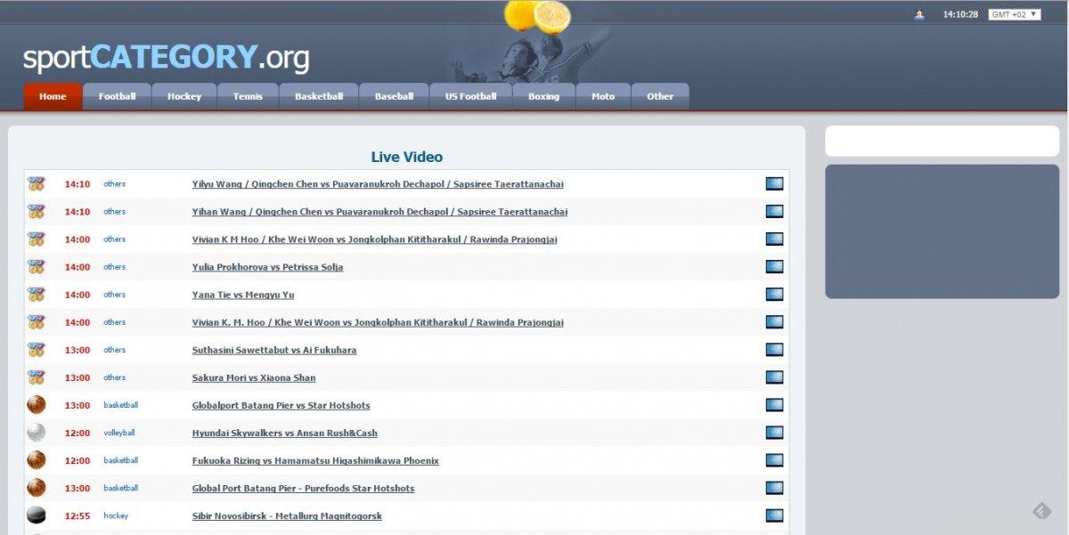 Versión web de Sportcategory