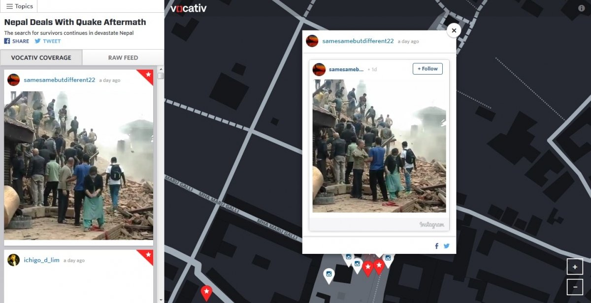 Vídeo de Nepal en Vocativ Social Map
