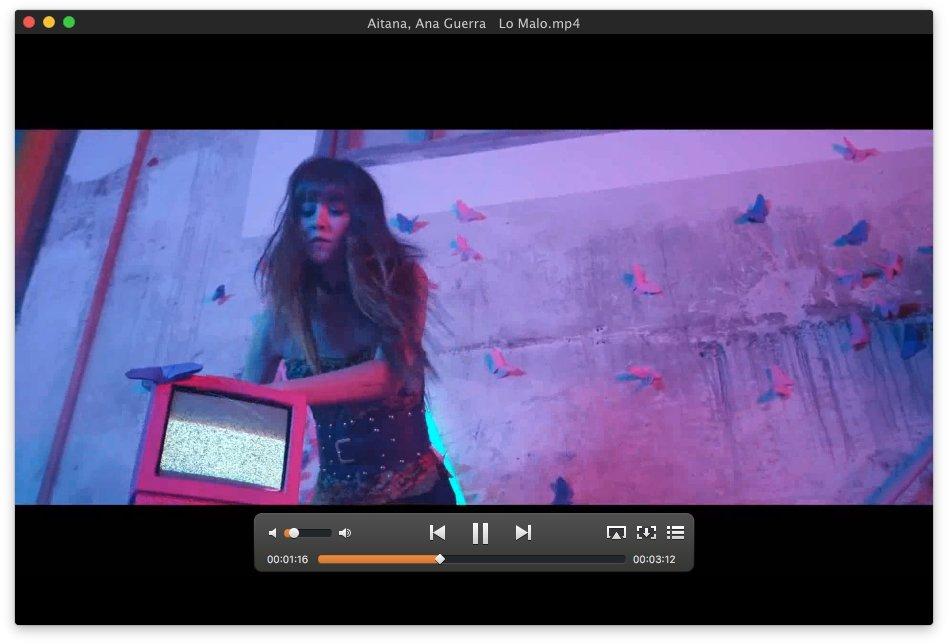 Videoclip reproducido con Elmedia Player