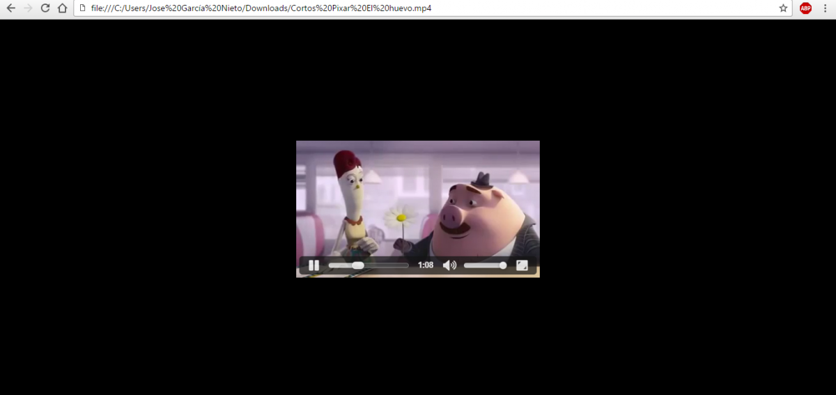 Viendo un vídeo en Google Chrome