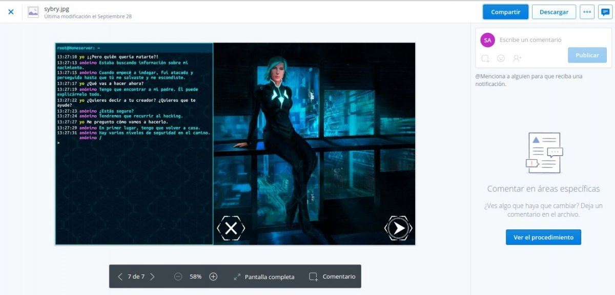 Visor de imágenes de Dropbox